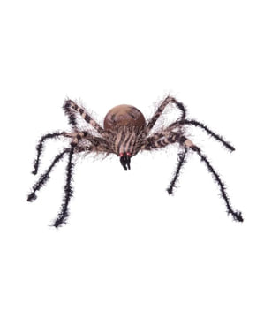 Závěsná dekorace pruhovaný pavouk Halloween
