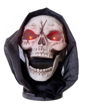 Dekoracja Halloween ruchoma, grająca i świecąca Czaszka