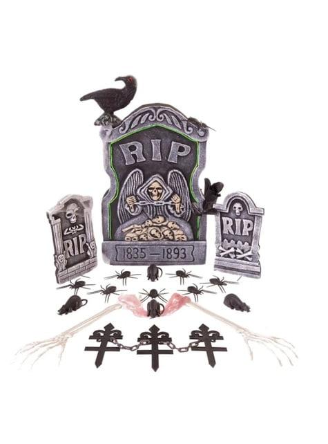 15 dílná svítící sada hřbitov
