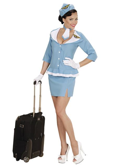 Disfraz de azafata retro para mujer - traje