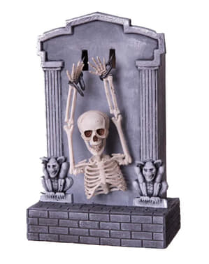 Interaktywna dekoracja Halloween Nagrobek & Szkielet