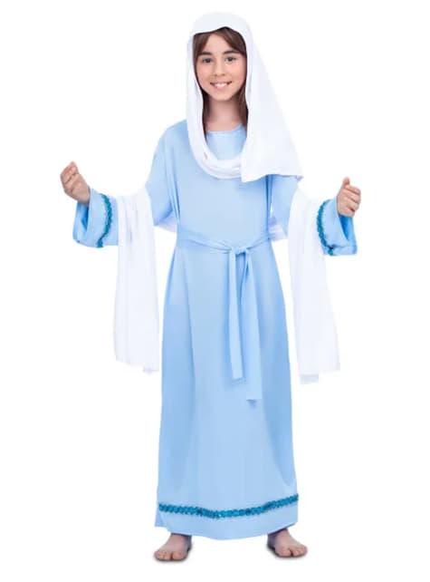 Jomfru Maria kostume til piger i blå