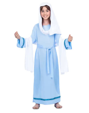Niebieski Strój Dziewica Maryja dla dziewczynek