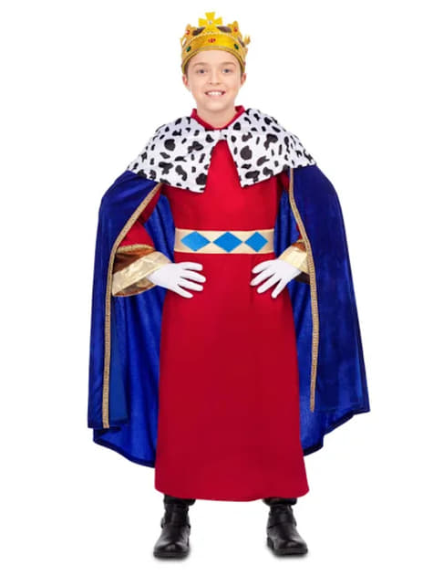 Red Cape Crown Hat Costume Carnival King Adult Wisemen Men Women Christmas New