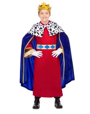 Fato de Rei Mago elegante azul para menino