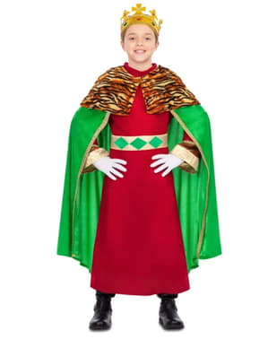 Déguisement Roi Mage élégant vert garçon