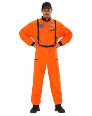Oranje astronauten kostuum voor mannen