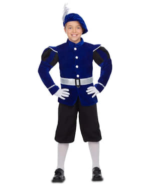 Elegantes Pagen Kostüm blau für Jungen