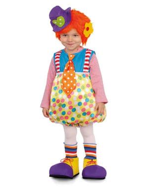 Fato de palhaço multicolorido infantil