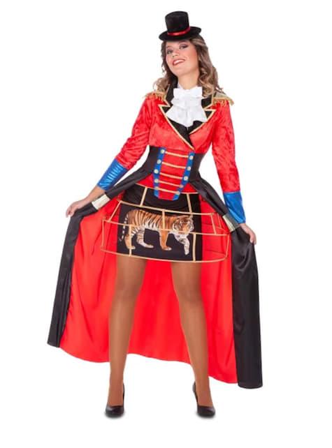 Disfraz de domadora de circo rojo para mujer