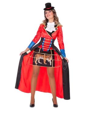 Circusdirecteur kostuum voor vrouwen in het rood