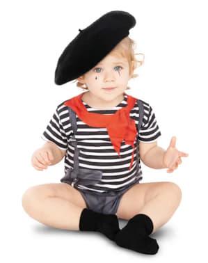 Disfraz de mimo para bebé