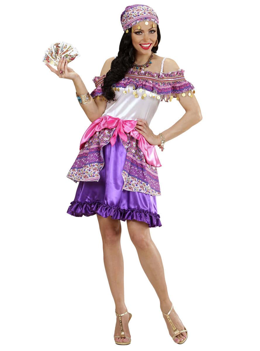 Womens Plus Size Gypsy Fortune Teller Costume. Detalle Zoom  sc 1 st  Funidelia & Womens Plus Size Gypsy Fortune Teller Costume. Fast delivery | Funidelia