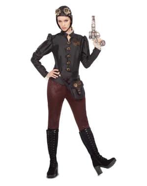 Steampunk Pilotin Kostüm für Damen