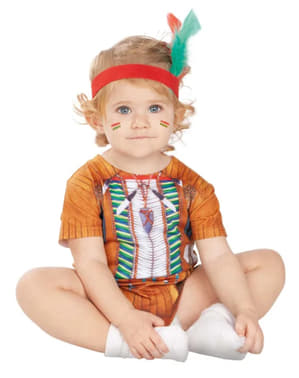 Costum de indian războinic pentru bebeluși