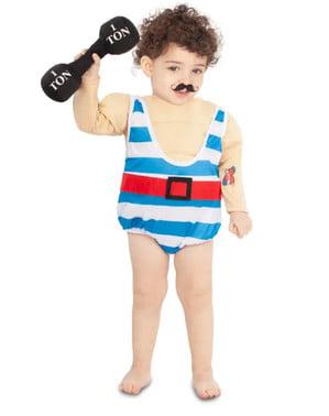 Disfraz de forzudo para bebé