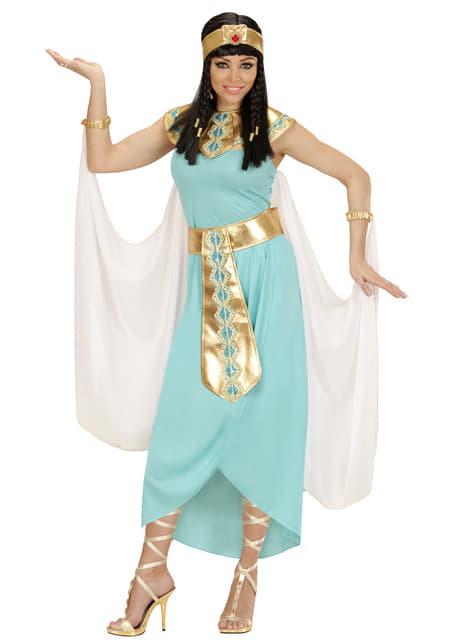 Disfraz de reina egipcia azul para mujer talla grande