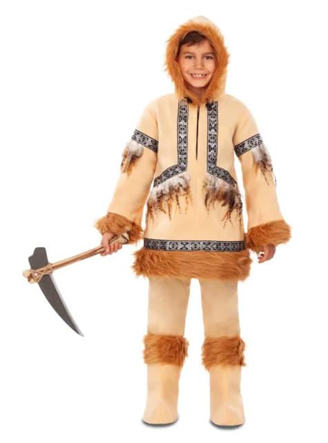 Brązowy kostium Eskimos dla chłopców
