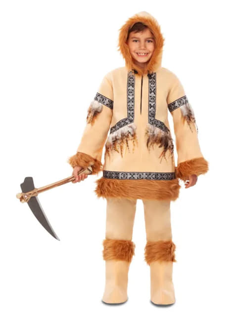 Eskimo Costume for Boys in Brown