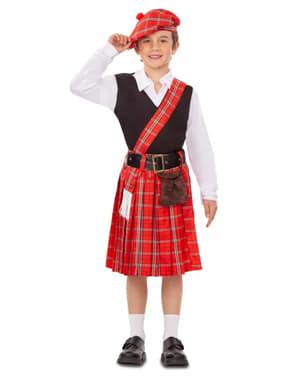 Fato de escocesa para menino