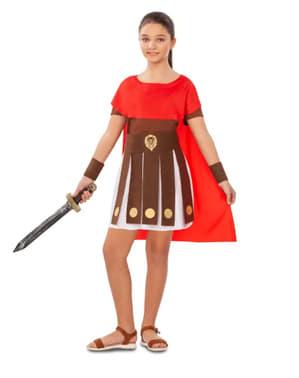 Disfraz de gladiadora romana para niña