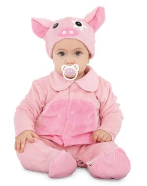 Fato de porquinho adorável para bebé