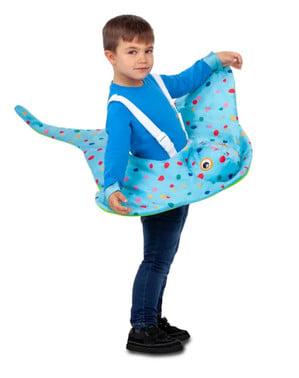 Disfraz de pez manta para niño