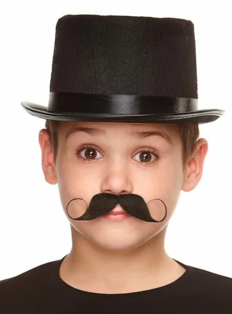 Czarne sztuczne wąsy dla chłopców
