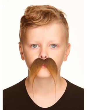 Brunt overskæg til drenge