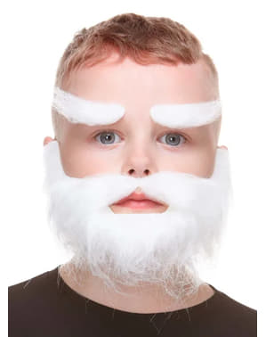 White Beard and Eyebrows for Boys
