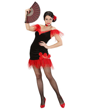 Disfraz de sevillana rojinegra para mujer