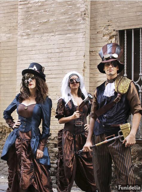 Sombrero Steampunk con gafas - Carnaval