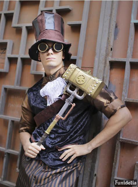 Steampunk hatt med briller