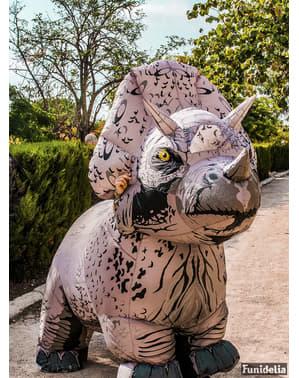 Φουσκωτά Triceratops Δεινόσαυρος Στολή για ενήλικες - Τζουράσικ Παγκόσμιο