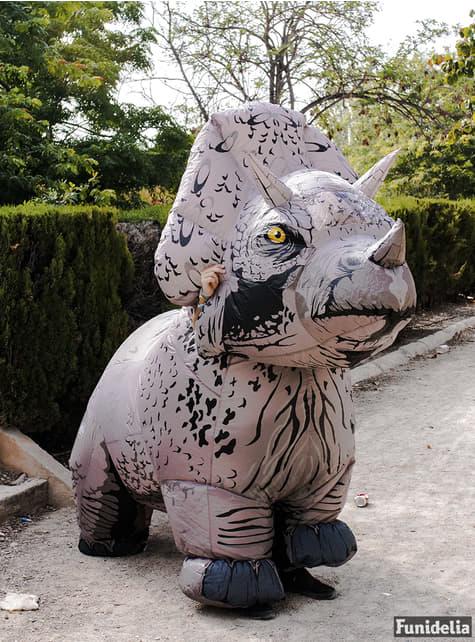 Fato insuflável de Triceratops para adulto - Jurassic World