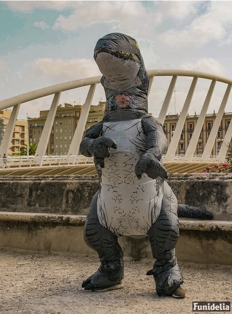 Disfraz hinchable de Velociraptor Blue prestige para adulto - Jurassic World - hombre