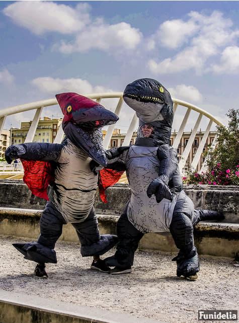Aufblasbares Dinosaurier Velociraptor Blue Kostüm Prestige für Erwachsene - Jurassic World