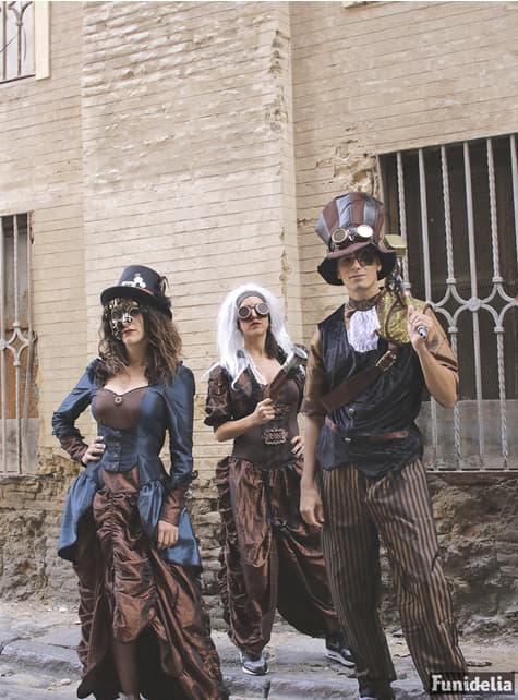 Disfraz de steampunk marrón para mujer - barato