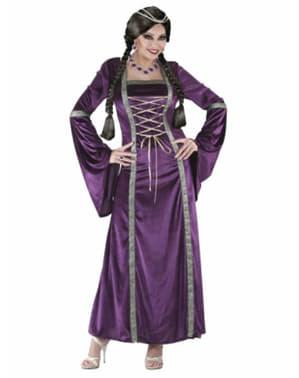 Keskiaikainen prinsessa-asu naiselle