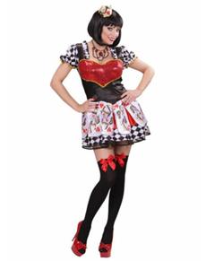 Königin der Herzen Kostüm für Damen Classic