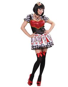 Hjerterdame Kostyme Dame