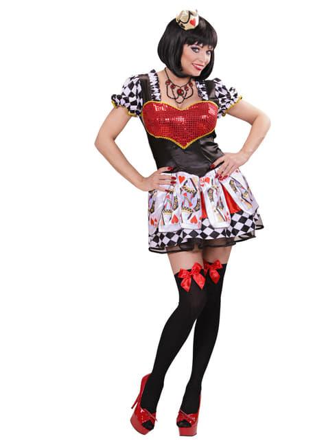 Disfraz de reina de corazones para mujer - mujer