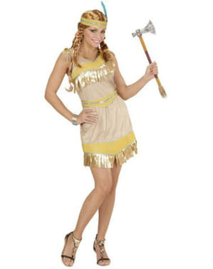 Womens Golden Indian Costume
