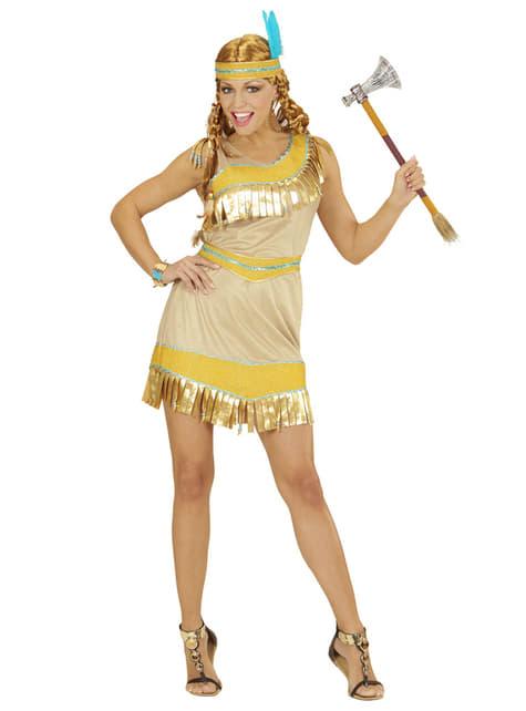 Womens Golden Indian Costume