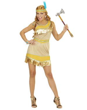 Fato de índia dourada para mulher