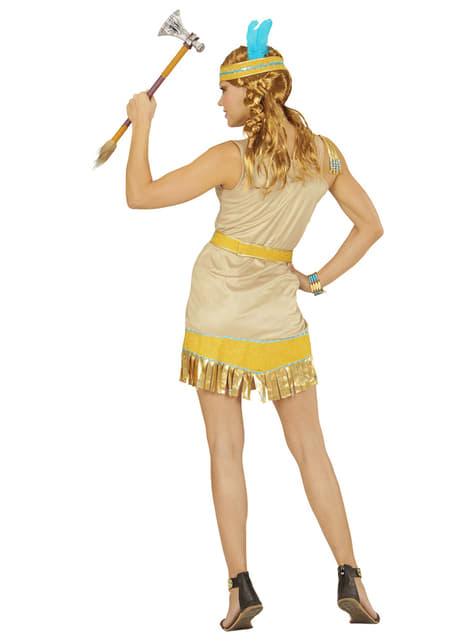 Disfraz de india dorada para mujer - original