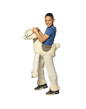 Lama Ride on kostuum voor kinderen