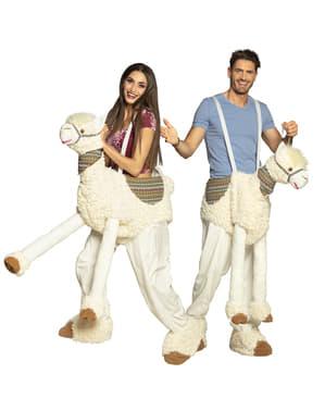 Lama Ride on kostuum voor volwassenen