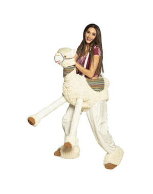 Llama Ride On Costume for Adults