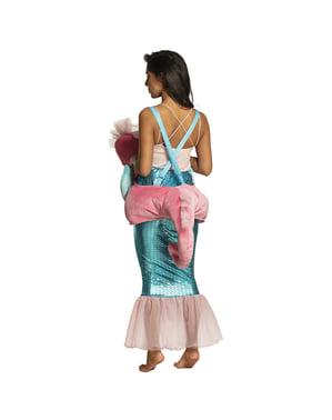 Zeepaard ride on kostuum voor vrouwen